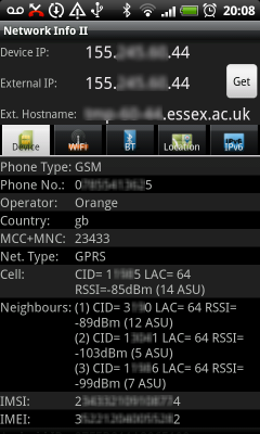 Network Info II Screenshot 1