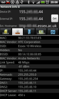 Network Info II Screenshot 2
